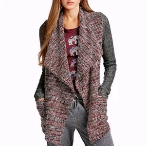 Lucky Brand | Open Front Textured Cardigan